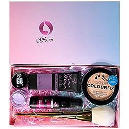 Beauty Box/Makeup Gift Set: CC Anti-Dull Concealer+Primer+ Makeup Spray+Technic Pressed Powder+Kabuki Brush