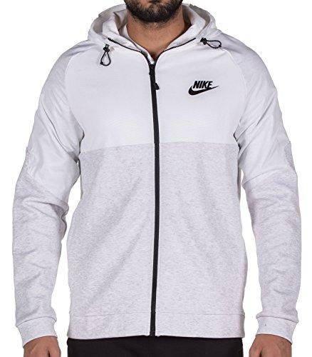 Nike Mens Sportswear Advance 15 Full Zip Hoodie (Birch Heather/White/Black, XXL) (Birch Flush)