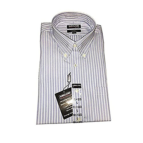 Kirkland Signature Men's Traditional Fit Non-Iron Button Down Collar Dress...