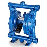 Air-Operated Double Diaphragm Pump 1/2 inch Inlet & Outlet Low Viscosity Petroleum Fluids Cast Iron for Chemical Industrial Use (US Stock)