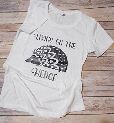 - Living on the Hedge, Womens Hedge Hog White Tshirt