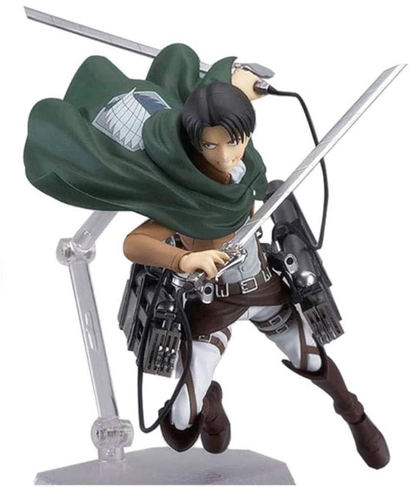 Attack On Titan Figure,Mikasa·Ackerman&Eren Jaeger&Levi Ackerman Figma Figure PVC Toys Collection Model Doll Gift Action Figure (Levi Ackerman)