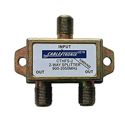 2 Way Splitter 2 GHz 900-2050 MHz 1 Port DC Passive Commercial Grade Satellite