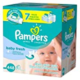 Health & Personal Care : Pampers Baby Fresh Baby Wipes 7x Pop-top Pack - 448 Count