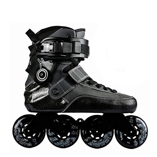Juvenile shoulder Adult Professional Extreme Inline Skates Carbon Fiber Roller Skating Shoes Free Skating Patines,9