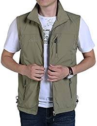 a965a4931507 Men s Casual Outdoor Lightweight Quick Dry Travel Vest Outerwear