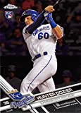 2017 Topps Chrome #101 Hunter Dozier Kansas City Royals Rookie Baseball Card
