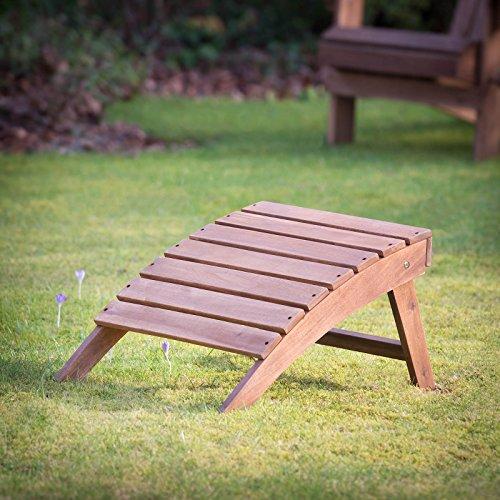 Plant Theatre Adirondack Folding Hardwood Footstool - Superb Quality Adirondack Garden Bench