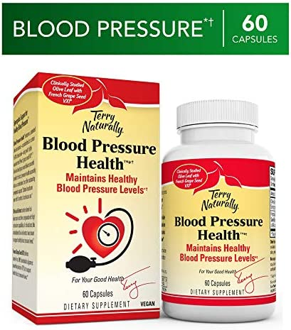Terry Naturally Blood Pressure Health – 60 Vegan Capsules – Promotes Healthy Circulation Blood Pressure Levels, Supports Smooth, Flexible Arteries – Non-GMO, Gluten-Free – 60 Servings