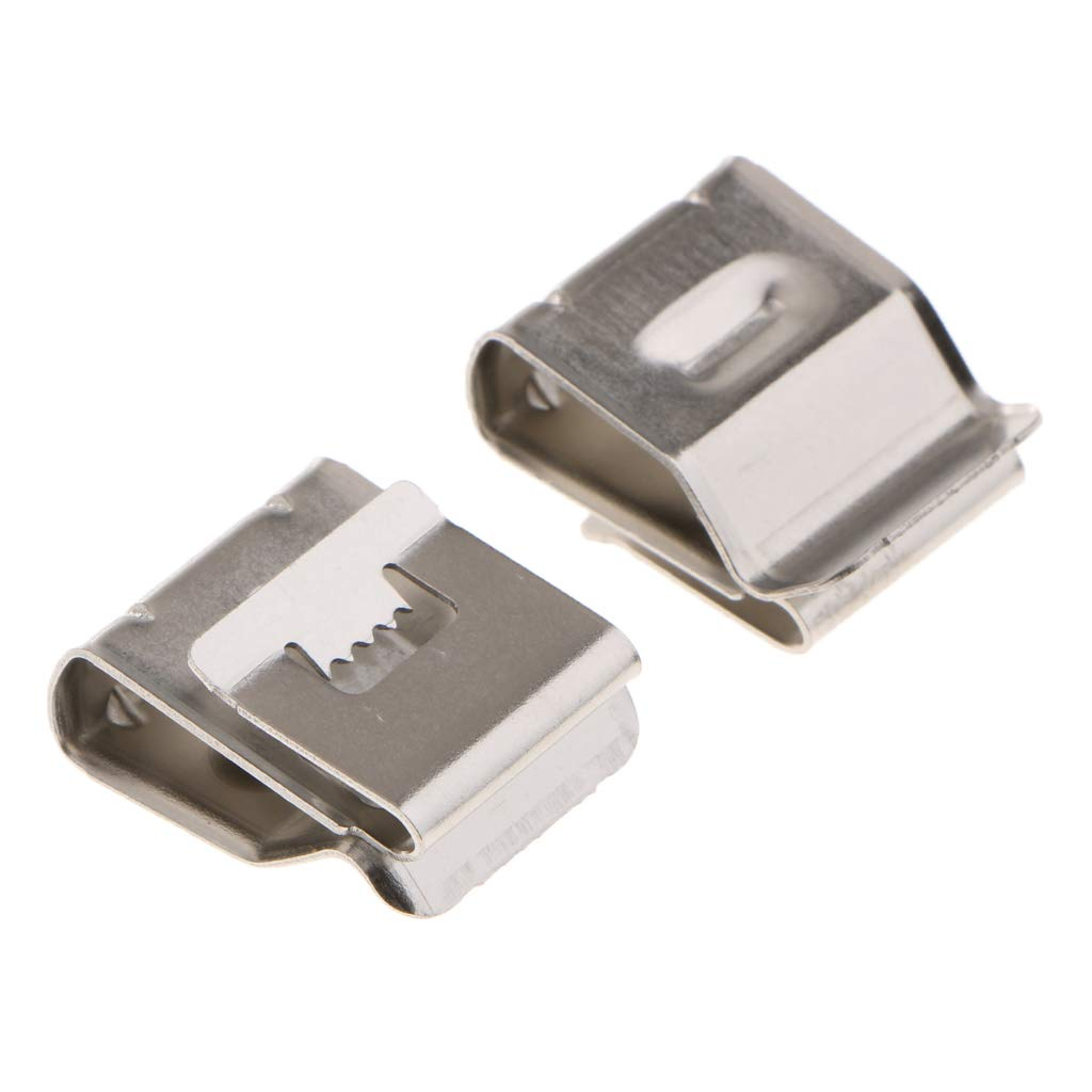 Almencla Stainless Auto Trailer Wiring Clips Organize Hide Protect Wiring to Trailer Frame 50 Per Pack