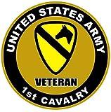 1-Pc Ornate Fashionable US Army Veteran 1st Cavalry Sticker Sign Proud Window Vinyl Size 8