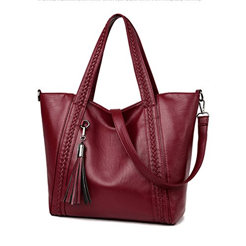 Capacity Lady Crossbody Women Casual Pu Satchel Kyokim Zipper Soft Of Bag Leather Bag Bag Large Network OvAqXB