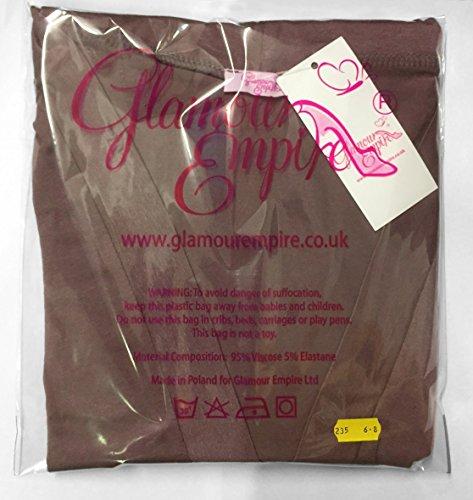 Glamour Empire. Para Mujer Vestido Maxi Sin Tirantes Cintura del Imperio. 268 Fucsia y azul marino
