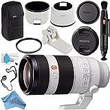 Sony FE 100-400mm f/4.5-5.6 GM OSS Lens SEL100400GM + 77mm UV Filter + Lens Pen Cleaner + Fibercloth + Lens Capkeeper + Deluxe Cleaning Kit Bundle