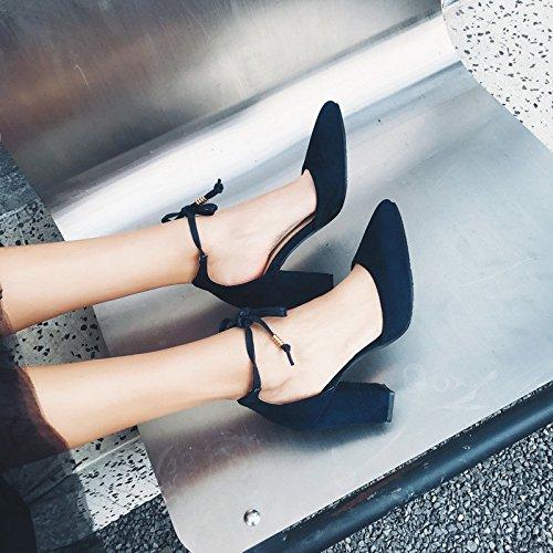 blue Código Rojo hueco Size moda primavera La alto del verano nupcial Heel el punta la y sandalias Shoes Aw7wTqU