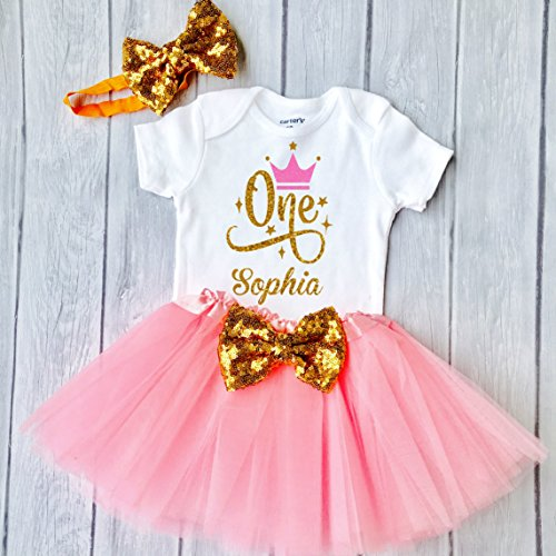 Funmunchkins First Birthday Outfit Girl, 1st Birthday Girl Outfit, Girl First Birthday Outfit