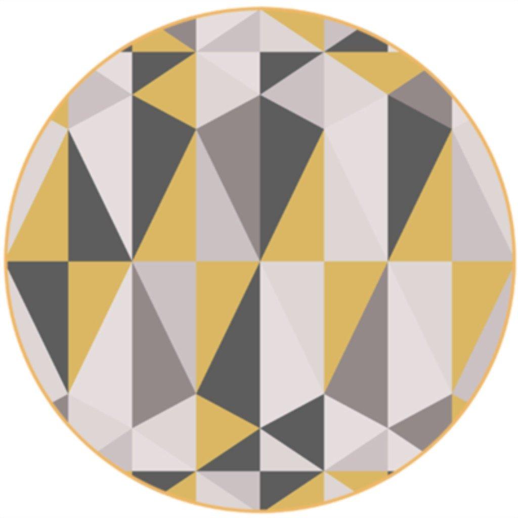 Cqq tapis Tapis géométriques de la mode moderne et simple nordique Salon avec tapis rond Matelas matelas matelas Peut être lavé ( Couleur : C , taille : Diameter 120CM )