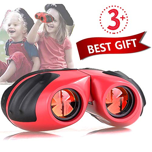 Niskite Toys for 6 7 8 9 10 Years Girl Gifts, Compact Waterproof Binoculars for Kids,Top Birthday Gifts Travel Toy for 3 4 5 Years Old Girl & Boy Red from Niskite