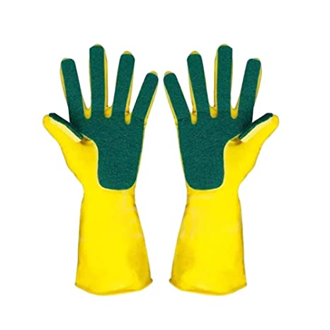 Lsgepavilion - 2 Guantes de Limpieza de látex elásticos Impermeables para Cocina, hogar, Plato