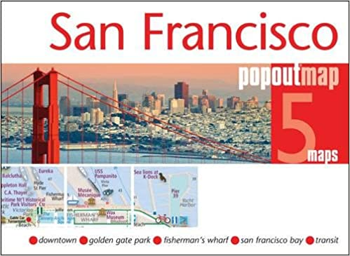 San Francisco PopOut Map handy pocket size pop up city map of