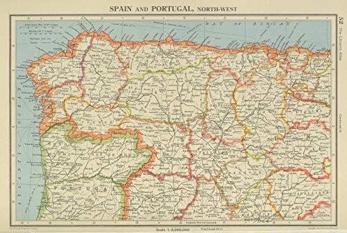 Mapa Asturias Y Cantabria.Iberia N West Espana Portugal Galicia Asturias Castilla Leon Cantabria 1947 Mapa Antiguo Vintage Mapas Impresos De Iberia Amazon Es Hogar