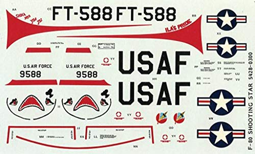 Monogram 1:48 F-80 Shooting Star USAF FT-588 Decal for sale  Delivered anywhere in USA