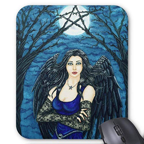 (JOMYY Wristband Pentacle Moon Mousepad Computer Accessories Anti-Friction 18X22)