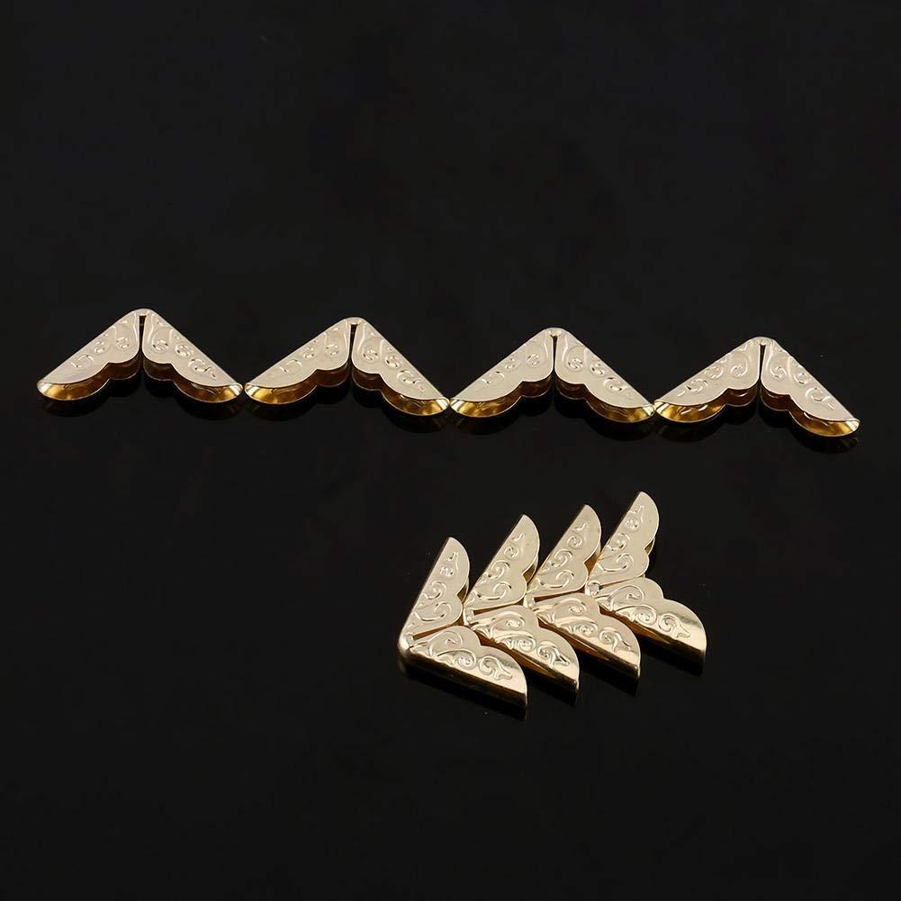 Applique Hobby creativi 100Pz di Bronzo Metallo Libro Protezioni Angolo Libro Album Retrò Stile Triangolo Angolo Protector Kit