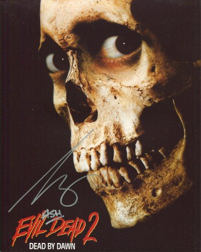 Original Autograph (Bruce Campbell Signed / Autographed 8x10 glossy Photo as Ash from Army of Darkness and Evil dead. Includes Fanexpo Fanexpo Certificate of Authenticity and Proof of signing. Entertainment Autograph Original.)