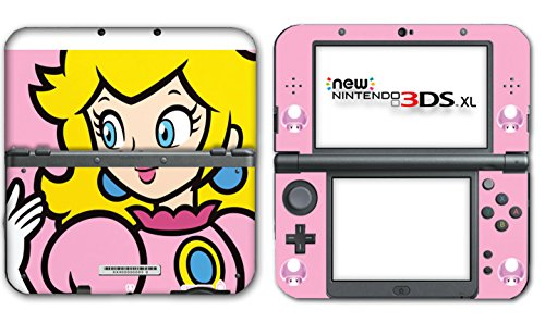 New Super Mario Bros 2 Princess Peach Special Edition Video Game Vinyl Decal Skin Sticker Cover for the New Nintendo 3DS XL LL 2015 System Console (Super Mario Bros 3ds Xl)
