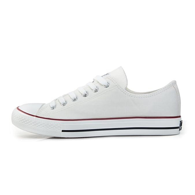 Schuhe Low Cut Männer Schuhe/Schwarz-Weiß-Paare Schuhe/Student Bordschuhe-A Fußlänge=23.8CM(9.4Inch) lfRdZiutp