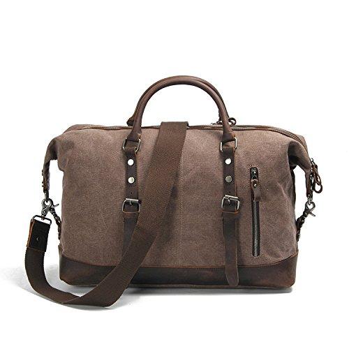 mefly simples hombres bolsa de lienzo al de fuera de bolsa de mano individual ensamblados, Black grey Black grey