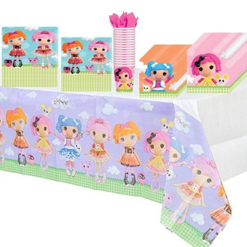 Lalaloopsy Deluxe Party Supplies Pack Including Plates, Cups, Napkins and Tablecover - 16 -