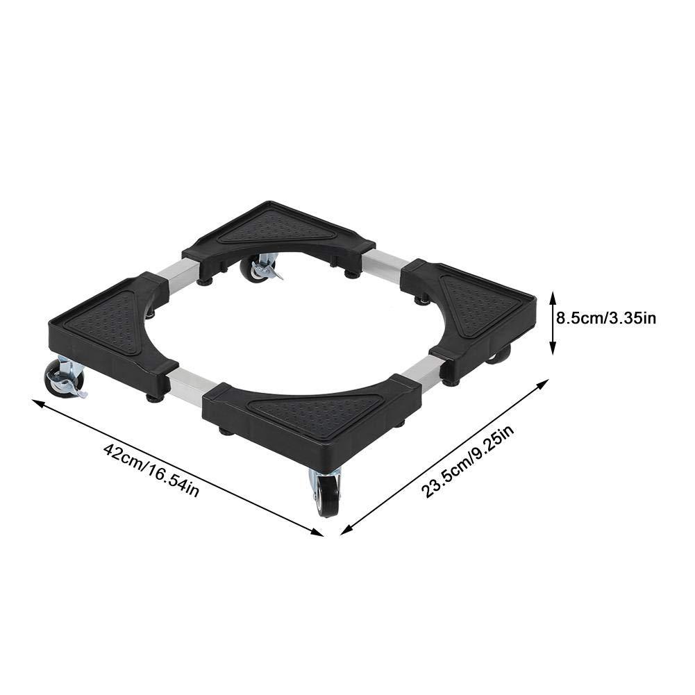 Zerone 42-96cm Soporte ajustable de base m/óvil para lavadora Refrigerador