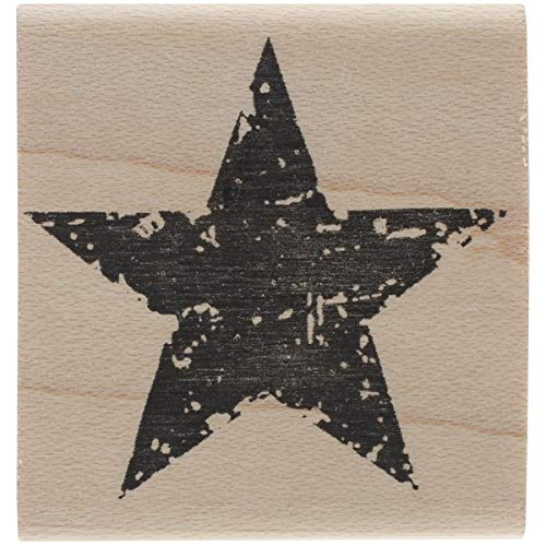 Tim Holtz Mounted Red Rubber Stamp 1.5x1.5-Star Silhouette