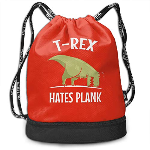 T-Rex Costumes Crossfit - Address Verb Drawstring Backpack with Pocket