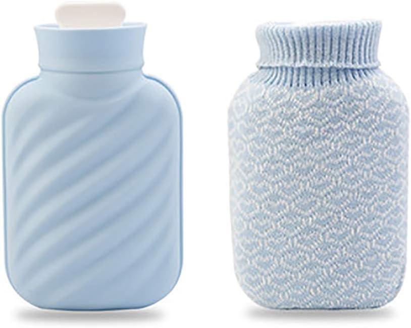 Pequeño de agua caliente con cubierta de la botella de silicona, Bolsa de agua caliente para aliviar el dolor,Calentadores de la mano del vientre caliente mini-Grande B