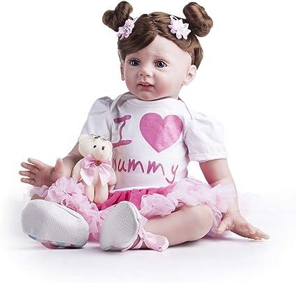 24/'/'Lifelike Reborn Baby Doll Soft Doll Silicone Handmade Newborn Baby Cute Gift