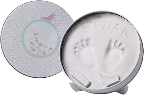 Baby Art Magic Box Memory Hand Foot Print Clay Casting Imprint Kit Newborn