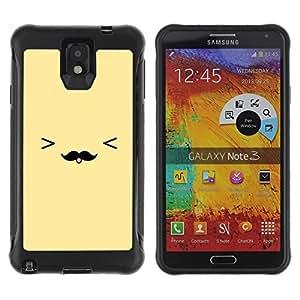 Suave TPU GEL Carcasa Funda Silicona Blando Estuche Caso de protección (para) Samsung Note 3 / CECELL Phone case / / yellow moustache smiley face emoticon /