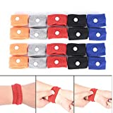 WarmShine 20 Pack Anti Nausea Wrist Bands Anti Nausea Car Sea Sick Sickness Nausea Relief Acupressure Wrist Bands for Car Sea Van Plane, 5 Colors