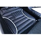 3D FRONTLINE Anti Skid Barfi Finish Car Foot Mats for New Maruti Baleno-Silver