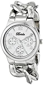 Breda Women's 7224-silver .BR Penelope Oversized Chain Band Set Watch