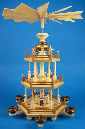 Dregano 3 Level Detailed Christmas Pyramid Germany