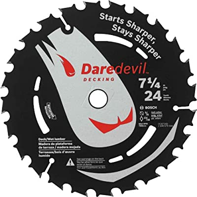 Bosch DCB724D Daredevil 7-1/4-Inch 24-Tooth Decking and Wet Lumber Circular Saw Blade