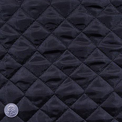 Amazon.com: Polyester Quilted Padded Lining Fabric Black : nylon quilted fabric - Adamdwight.com