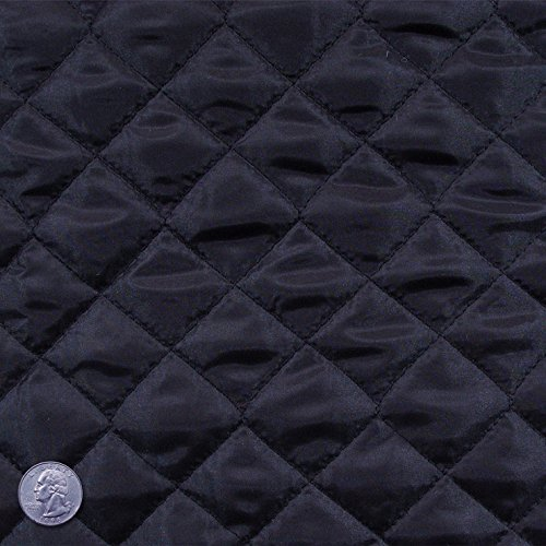 (Polyester Quilted Padded Lining Fabric Black)