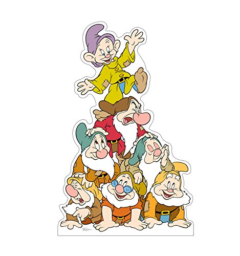Seven Dwarfs Snow - Advanced Graphics Dwarfs Group Life Size Cardboard Cutout Standup - Disney's Snow White and the Seven Dwarfs