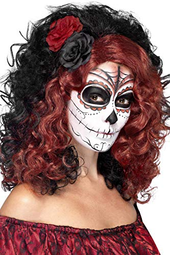 Smiffys Women's Day Of The Dead Wig, Multi, One Size -
