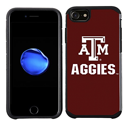 (Prime Brands Group Textured Team Color Cell Phone Case for Apple iPhone 8/7/6S/6 - NCAA Licensed Texas A&M University Aggies)